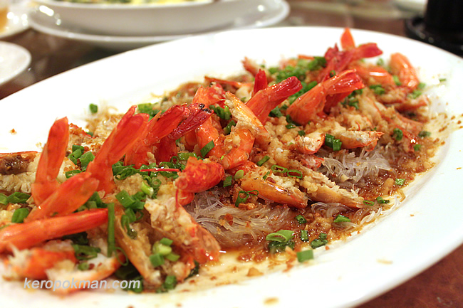 Steamed Live Prawn with Vermicelli & Minced Garlic