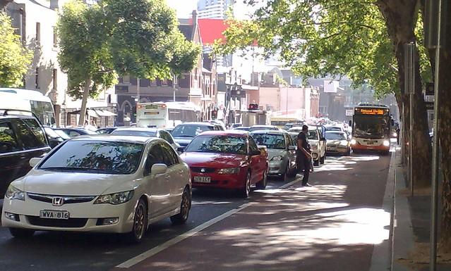 POTD: Blocked bus lanes