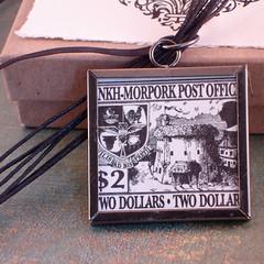 Bonk / Ankh Morpork Reversible Stamp Pendant Necklace