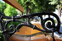 Bench bokeh (mogyorocska) Tags: city summer canon walk 1855mm transylvania transilvania medias mediasch canoneos500d medgyes rebelt1i