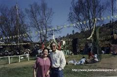Con Gabriela Pizarro Soto, (Lebu, 14 octubre 1932 - Santiago 29 diciembre 1999)