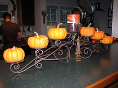 fall pumpkin candelabra