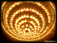 LIGHTINGS inside the pandal (confused shreyasi) Tags: india lights festivity kolkata puja durga mywinners