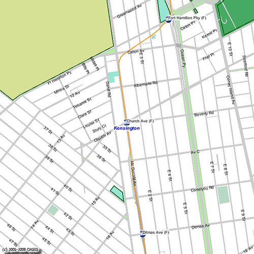 OASIS Neighborhood Map for Kensington With Subway Layers