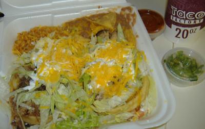 Taco Factory - Sopes Platter