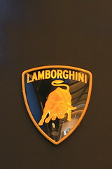 Lamborghini Sign at LA Auto Show
