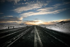 on the road (sgoralnick) Tags: driving roadtrip snowy road street þingvellir iceland travel andyclymer canon5d canonef1635mmf28liiusm canon1635mmf28l