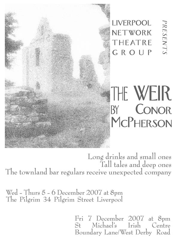 The Weir programme cover