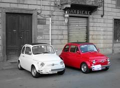 Black & White... & Red (MaranzaMax) Tags: auto old red italy white black max car italian nikon italia fiat picasa explore coolpix 500 5900 cinquecento epoca maranza mywinners maranzamax