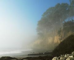 Clearing Away the Mist (Lisa{santacrewsgirl}) Tags: california beach fog searchthebest capitola newbrighton santacruzcounty flickrgolfclub