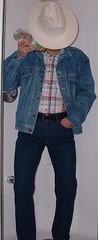 cowboy03 (splishsplash1123) Tags: cowboy jean denim jeanjacket wam westernwear wetdenim