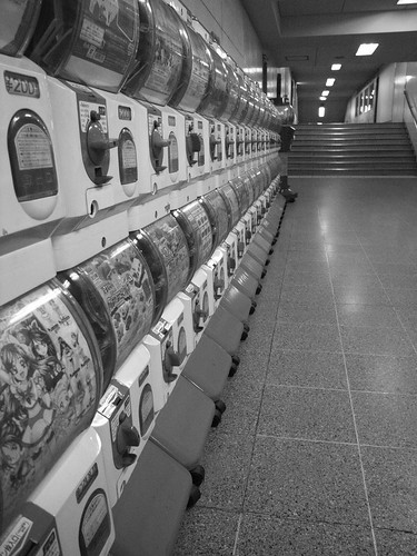 Gashapon vending machines