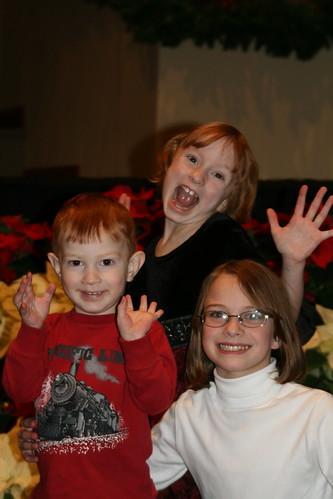 The kids posing