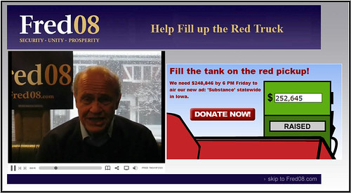 Fred Thompson for President Splash Page