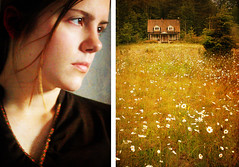 what the heart wants (manyfires) Tags: house selfportrait home me field daisies nikon diptych glow cotta