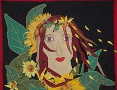 Giragitana (Anita Lunaparche) Tags: handmade cuba patchwork anita girasol gitana parche tapiz