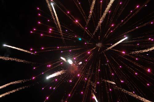 Fireworks in Boquete, Chiriqui (Panama)