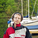 Deb at the marina we stored our boat