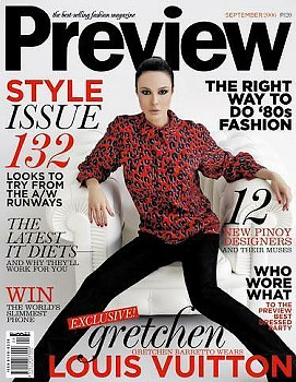 PREVIEW-the style issue. Gretchen Baretto wears Louis Vuitton