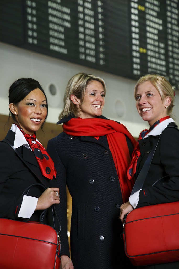 Brussels Airlines - female flight attendants
