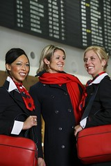 Brussels Airlines - female flight attendants (baldpipeguy) Tags: blue red white female scarf inflight uniform europe belgium wing uniforms scarves handbags collar insignia stewardess handbag 2007 stewardesses flightattendants flightattendant accessory cabincrew neckwear brusselsairlines stewardessuniform airlinefashion flightattendantuniform flightattendantuniforms cabincrewuniform