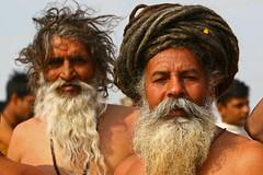 Hairy naga sadhus in Allahabad (Bertrand Linet) Tags: portrait hairy india face festival hair beard retrato moustache indians mella sadhu naga allahabad nagasadhu humanfaces khumba khumbamella bertrandlinet