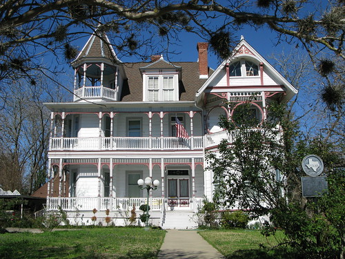 Regal old home in Brenham, Texas, USA