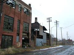 Derelict factories in Detroit