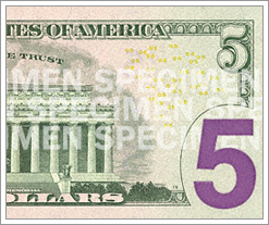 The new $5 dollar bill! by whatsthediffblog, on Flickr