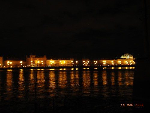 Praga by night - Lights on the river Moldava