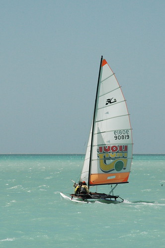 Me & Pippa on a Hobie (by Louis Rossouw)