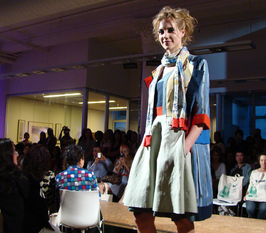Judy Lee Dress, Project Earth Day Eco Fashion Show 2008, Green Fashion, Eco Fashion, Sustainable Style, Organic Fashion, Inhabitat photography, Jill Fehrenbacher photography, eco fashion, Green Project Runway