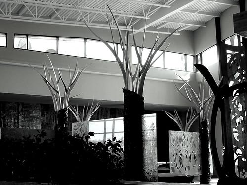 the black forest (anniedaisybaby) Tags: sculpture art tourism hotel manitoba hospitality interlake hecla oasisresort mikley radissonhecla
