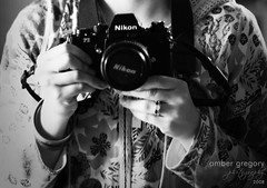 Nikon F3 (or, Amber's Awesome Old Skule Film Camera) (amber {in the shadow of za'ha'dum}) Tags: camera bw white black film self nikon awesome f3 excitement 2008 nikonf3 newtoy ambergregory soawesome alsothesoundsitmakesareincredible thiscameraisalmostasoldasiam thereissomethingverycoolaboutthat camgasm