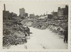 Rotterdam, oorlogsschade na bombardement (3)