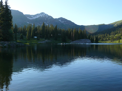 Lake Irwin campground in Colorado