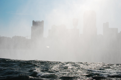 Canada behind mist