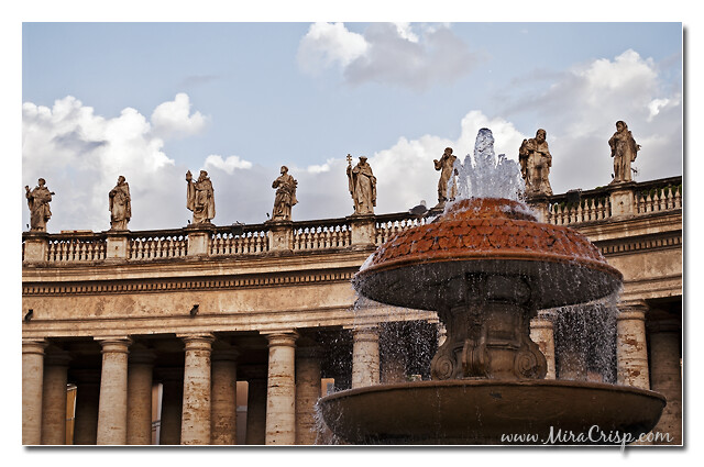 A Fountain at St. Peter's Square
