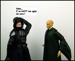 Face Off. (waihey) Tags: film face toys starwars harrypotter darthvader voldemont