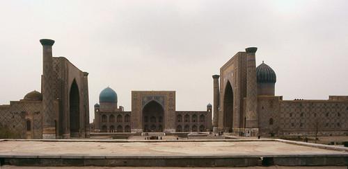 Registan place in Samarkand, Uzbekistan