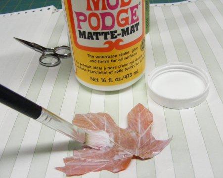 Mod Podge Leaf