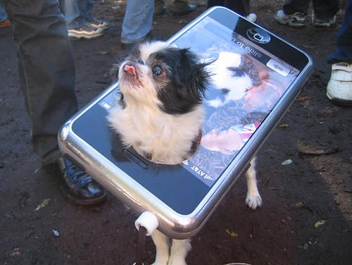 iPhone dog costume