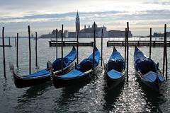 Gndole (matteo_dudek) Tags: mare barche venezia viaggi molo quattro gondole photofaceoffwinner photofaceoffgold pfogold blunero mcb1608 lpcityscape lpfloating
