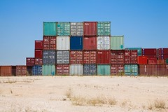 jeffrey smart containers (ghee) Tags: canon sydney australia nsw 5d tempe containers shippingcontainers ghee gwp