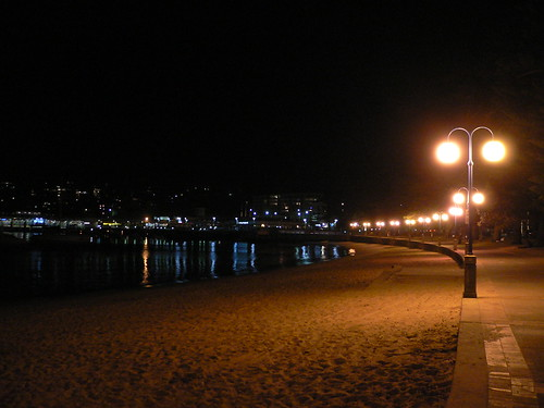 Manly Beach at night