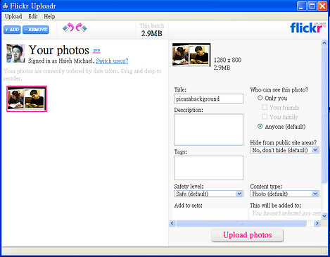 flickr uploadr3
