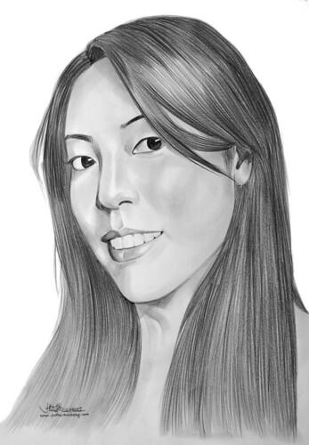 lady portrait pencil A2 131207