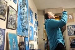 C215 - MONOKROMIK Group show at the Art Partner gallery - Paris - Dec 07 (C215) Tags: streetart paris france art french stew graffiti stencil exhibition christian canvas exposition opening bishop collective sadhu qee esper seize pochoir toyz spadge miette customization masacara speedygraphito feebles szablon c215 6lex isbach artpartner schablon tchikioto htkc dan23 gumy awakestudio piantillas mokoso guemy anandanahu