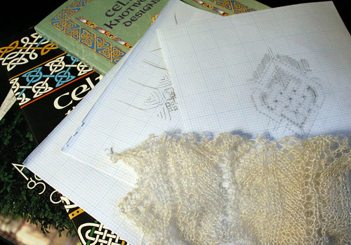 Wedding Shawl: Sketching & Swatching