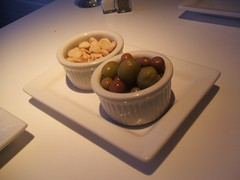 Olives and almonds